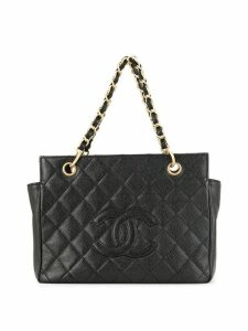 Chanel Pre-Owned diamond quilted chain tote - Black