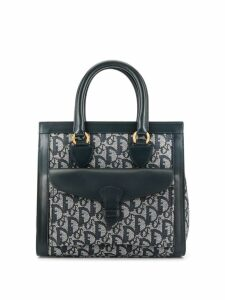 Christian Dior Pre-Owned Trotter pattern tote - Grey