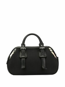Burberry Pre-Owned check panels handbag - Black