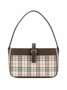 Burberry Pre-Owned check shoulder bag - Brown