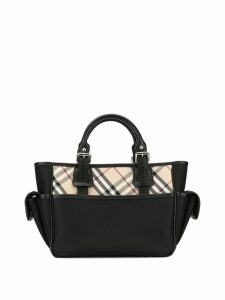 Burberry Pre-Owned check panels tote bag - Black