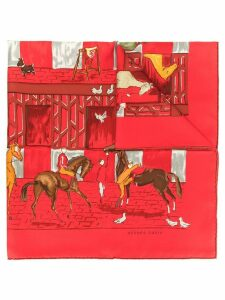 Hermès Pre-Owned Les Boxes scarf - Red