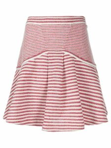 Chanel Pre-Owned striped knitted skirt - Red