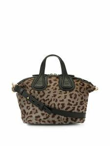 Givenchy Pre-Owned Nightingale leopard 2way bag - Brown