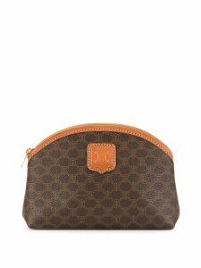 Céline Pre-Owned Macadam pattern makeup bag - Brown