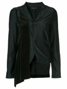 Comme Des Garçons Pre-Owned asymmetric fitted blazer - Blue