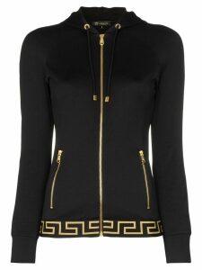 Versace zip-up logo track jacket - Black