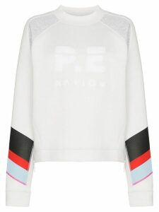 P.E Nation textured logo sweatshirt - White