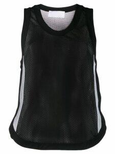 No Ka' Oi mesh vest top - Black