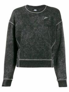 Nike cropped stonewash sweatshirt - Black