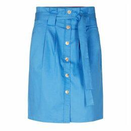 Denim Look Button Up Pencil Skirt