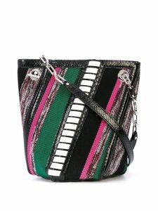Proenza Schouler Mini Woven Hex Bucket Bag - Black