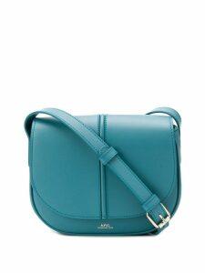A.P.C. logo print satchel bag - Blue