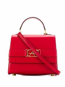 Alberta Ferretti logo plaque tote bag - Red