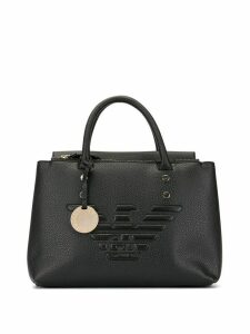 Emporio Armani eagle logo tote bag - Black