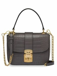 Miu Miu crocodile effect bag - Grey