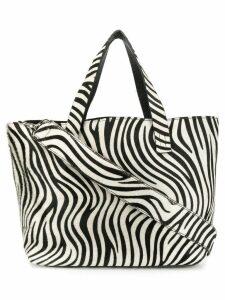 P.A.R.O.S.H. zebra tote bag - Black