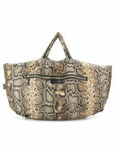 Victoria Beckham python print shopper bag - Neutrals