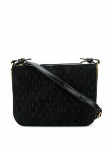 Saint Laurent logo pattern crossbody bag - Black