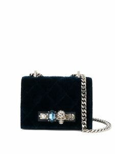 Alexander McQueen Knuckle Duster crossbody bag - Blue
