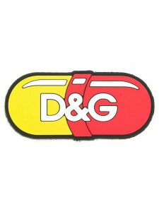 Dolce & Gabbana pill shaped logo patch - Red