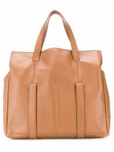 Giorgio Armani classic shopping tote - Brown
