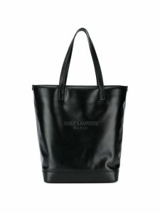 Saint Laurent palm-tree print double tote - Black