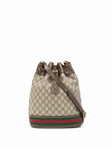 Gucci GG pattern bucket bag - Brown