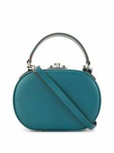 Mark Cross Gianna oval box bag - Blue