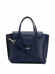 Tod's pebbled tote bag - Blue