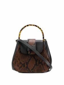 Nico Giani snake-effect shoulder bag - Brown