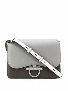 Salvatore Ferragamo Classic Flab two-tone shoulder bag - Grey