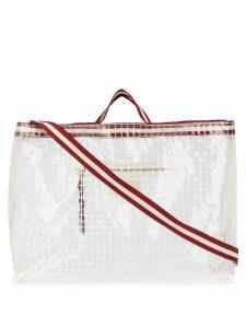 Bellerose Dilya checked tote bag - Neutrals