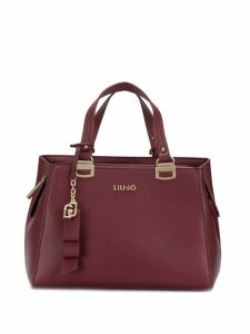 Liu Jo logo plaque tote - Red