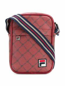 Fila logo patch messenger bag - Red