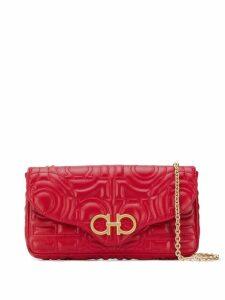 Salvatore Ferragamo Quilted Gancini mini bag - Red