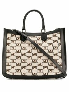 Alberta Ferretti logo top-handle tote - Black