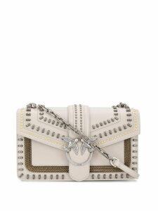 Pinko stud-embellished Love shoulder bag - Neutrals