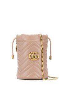 Gucci mini GG Marmont bucket bag - Neutrals