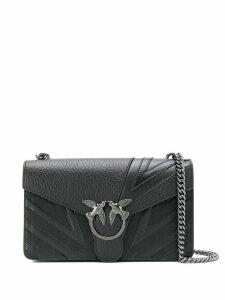 Pinko chevron love bird shoulder bag - Black