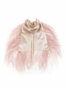 Rosantica Mademoiselle feather-trimmed bag - Pink