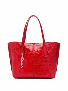Tod's crocodile-effect tote bag - Red