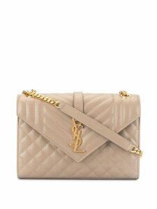 Saint Laurent medium envelope shoulder bag - Grey