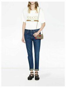 Gucci GG Supreme mini bag with cherries - Neutrals