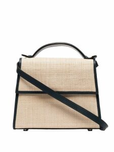 Hunting Season medium straw shoulder bag - Neutrals