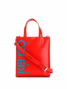 Kenzo colour-block logo tote - Red