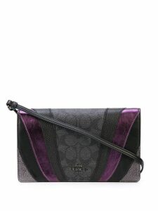Coach Wave Patchwork clutch bag - Black