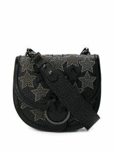 Pinko star studded shoulder bag - Black