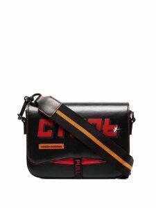 Heron Preston logo patch cross-body bag - Black