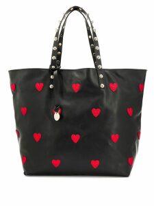 Red Valentino RED(V) heart appliqué tote - Black